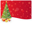 christmas tree background 3 vector image vector image