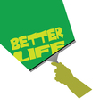 cleaning for better life vector image vector image