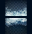 clouds and smoke on blue transparent vector image