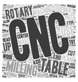 CNC Rotary Tables text background wordcloud vector image vector image
