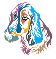colorful decorative portrait of dog russian vector image vector image