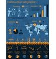 Construction Infographics Set vector image