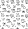 English bulldog pattern seamless vector image vector image
