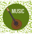 fado guitar musical instrument vector image