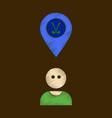 flat shading style icon golfer logo vector image vector image
