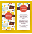 Flyer Template of Flat Design Business Workplace vector image