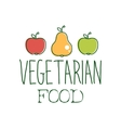 Fresh Vegan Food Promotional Sign With Two Apples vector image vector image