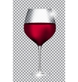 Full Glass of Red Wine on Transparent Background vector image vector image