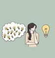 genius innovation creativity concept vector image