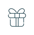 gift box happy christmas line icon vector image