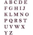 Hand drawn decorative english alphabet letters vector image
