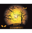 Happy Halloween background vector image
