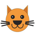 head of a cat in cartoon style vector image