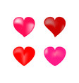 heart 3d isolated color sign on white background vector image vector image