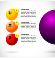 infographics with group flying balls vector image vector image