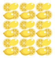 lemon seamless pattern design vector image