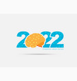 logo 2022 new year with creative concept vector image