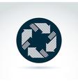 Loop sign circulation and rotation icon abstract vector image