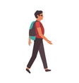 man walking in city modern young vector image vector image