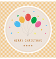 Merry Christmas greeting card23 vector image vector image