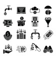 money flow icons set vector image vector image