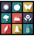 Nature flat icons vector image