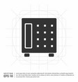 office safe icon vector image