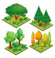 park element compositions set vector image vector image