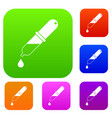 pipette set color collection vector image vector image