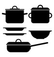 pot silhouettes vector image vector image