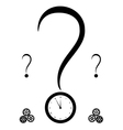 query mark and clock vector image vector image