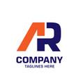 ra geometric strong logo vector image