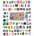 Ransom Note 1- Cut Paper Letters Numbers vector image vector image