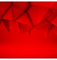 Red Abstract Polygonal Background vector image vector image