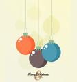 retro decorative christmas balls christmas card vector image vector image