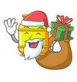 santa with gift gas tank cylinder isolated on vector image vector image