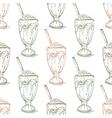 Seamless pattern vanilla milkshake scetch vector image