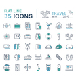Set Flat Line Icons Travel vector image vector image