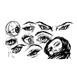 Set of female eyes vector image vector image