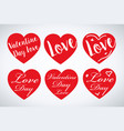 set valentines hearts vector image
