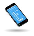 smartphone with online flight ticket booking inter vector image