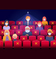 social distancing in cinema hall vector image