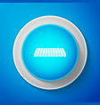 striped awning icon isolated on blue background vector image