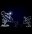 telecommunication technology polygonal art vector image vector image