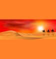 travelers in desert vector image vector image