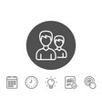 users line icon couple or group sign vector image