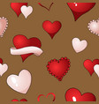 valentines hearts seamless pattern vector image