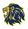 wild lion roaring head mascot vector image vector image