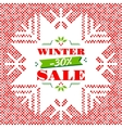Winter Sale background banner poster vector image vector image