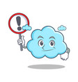 with sign cute cloud character cartoon vector image